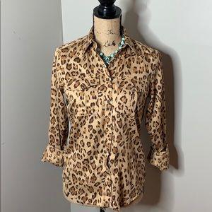 Ralph Lauren Leopard print blouse, size Small